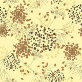 Seamless autumnal pattern. Autumnal seamless pattern in Stock Photo