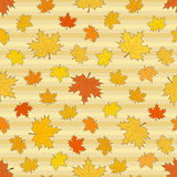 Seamless autumnal pattern with maple leaves. S, vector illustration Vector Illustration