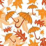 Seamless autumnal pattern with umbrellas Royalty Free Stock Image