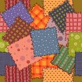 Seamless av färgrik patchwork Royaltyfria Bilder