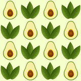 Seamless avocado pattern Stock Photography