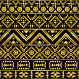 Seamless aztec pattern art deco style Royalty Free Stock Photos