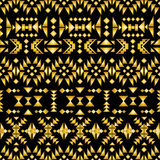 Seamless aztec pattern art deco style, vector illustration Stock Photography