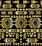 Seamless aztec pattern art deco style, vector illustration Royalty Free Stock Photography