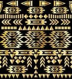 Seamless aztec pattern art deco style, vector illustration Stock Illustration
