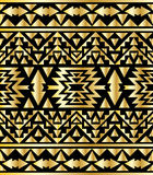 Seamless aztec pattern art deco style, vector illustration Royalty Free Stock Photos