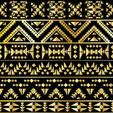 Seamless aztec pattern art deco style, vector illustration Royalty Free Stock Image