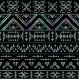 Seamless aztec pattern art deco style, vector illustration Stock Photos