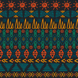 Seamless aztec pattern. Royalty Free Stock Photography