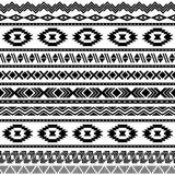 Seamless aztec pattern. Stock Photography