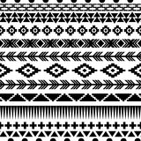 Seamless aztec pattern. Royalty Free Stock Image