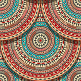 Seamless Aztec pattern Stock Photography