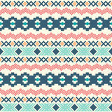 Seamless aztec pattern. Ethnic seamless pattern. Aztec background. Vector illustration Stock Images