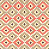 Seamless aztec pattern. Royalty Free Stock Images