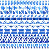 Seamless aztec pattern. Stock Photo