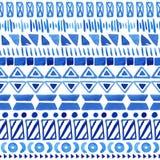 Seamless aztec pattern. Stock Photo