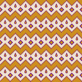 Seamless aztec pattern zigzag geometrical background Stock Photography