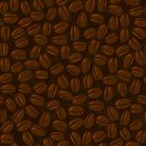 seamless bönakaffe stock illustrationer