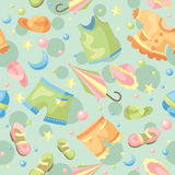 Seamless baby background Royalty Free Stock Photos