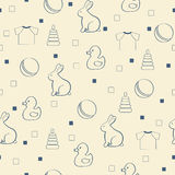 Seamless baby background. Royalty Free Stock Image