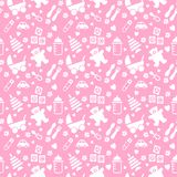 Seamless Baby Background Stock Images