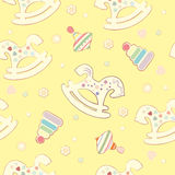 Seamless baby background. The background of the characters on the nursery theme Royalty Free Stock Photography