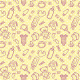 Seamless Baby Background for Baby Shower. Vector illustration Royalty Free Stock Photo