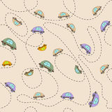 Seamless baby background with cars Royalty Free Stock Photo