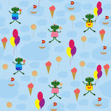 Seamless baby background with cartoon drawings Royalty Free Stock Photos