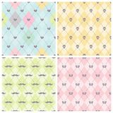 Seamless baby background collection. stock illustration