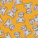 Seamless Baby Background with teddy bear Royalty Free Stock Images