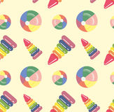 Seamless baby background from toys. The background of the characters on the nursery theme Stock Images