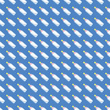 Seamless baby background for use in design, web site, packing, textile, fabric.nBabys bottle pattern.  Royalty Free Stock Images