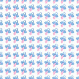 Seamless baby background for use in design, web site, packing, textile, fabric.nBabys dummy pattern.  Stock Photo