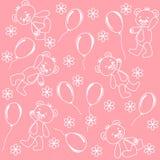Seamless. Baby bears. Vector illustration Royalty Free Stock Photo