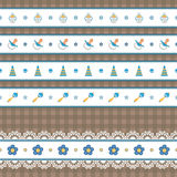 Seamless baby border Stock Images