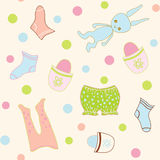 Seamless Baby clothing Stock Image