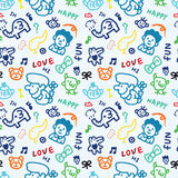 Seamless baby draw pattern Royalty Free Stock Photography