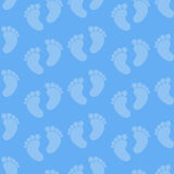 Seamless Baby Feet Pattern Stock Image