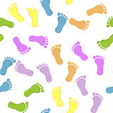 Seamless Baby Foot Pattern Royalty Free Stock Photography