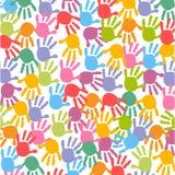 Seamless Baby footprintskids colorful pattern. Vector background Stock Photography