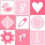 Seamless Baby Girl Background Stock Photo