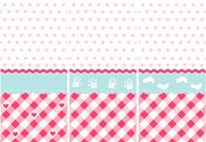 Seamless baby girl pattern. Pink wallpaper set royalty free illustration