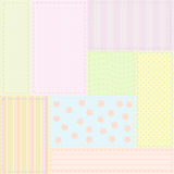 Seamless baby patchwork pattern stock photography
