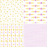 Seamless baby patchwork pattern Stock Images