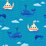 Seamless baby pattern � Sailor Royalty Free Stock Photography