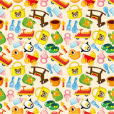 Seamless baby pattern. Vector drawing Stock Image