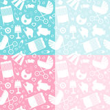 Seamless baby pattern Royalty Free Stock Photos