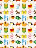 Seamless baby pattern. Cartoon vector illustration Royalty Free Stock Photo