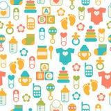 Seamless Baby Pattern Stock Photo